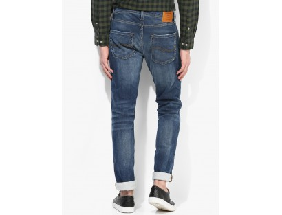 Jack & Jones Blue Mid Rise Slim Fit Jeans