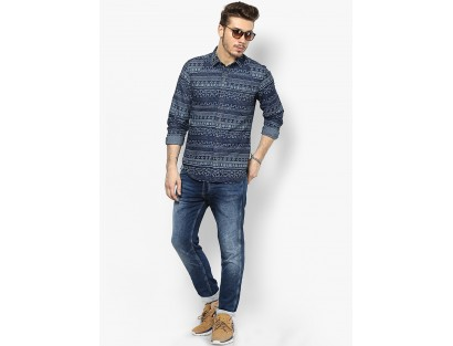 Jack & Jones Blue Anti Fit Knitted Jeans