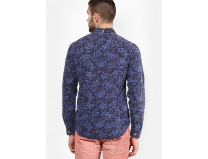 Jack & Jones Blue Print Slim Fit Casual Shirt