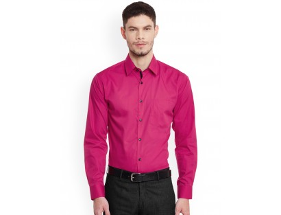 Pink Solid Shirt-F2