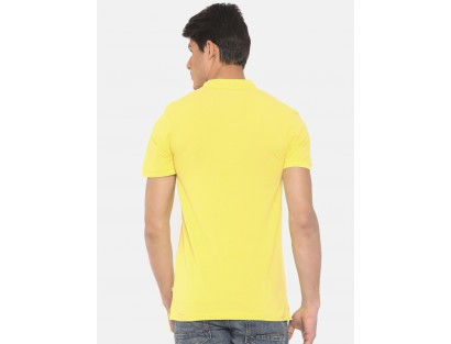 Yellow Solid Polo T-Shirt-F2