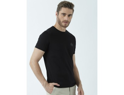 Black Casual T-Shirt-F2