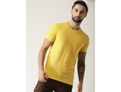 Yellow Solid T-Shirt-F2