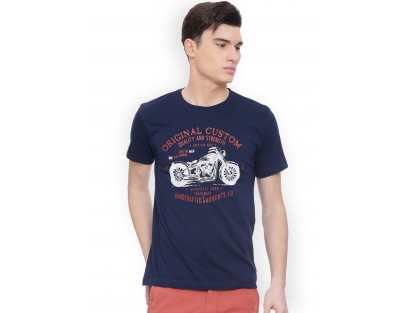 Navy Blue Printed T-Shirt(Similar Style)-F2