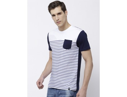 Blue Striped T-Shirts-F2