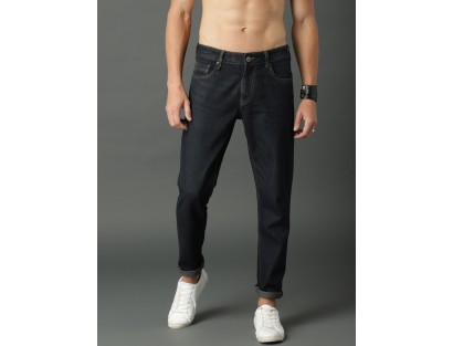 Navy Blue Casual Jeans-F2