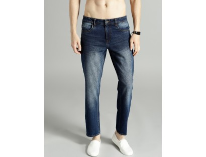 Navy Blue Slim Fit Jeans-F2
