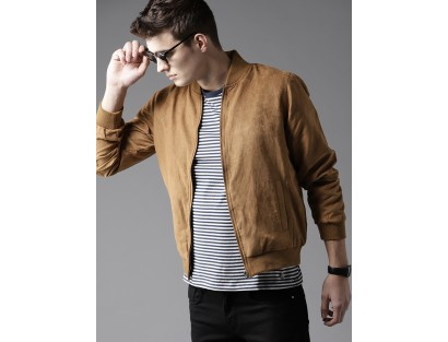 Brown Bomber Jacket-F2