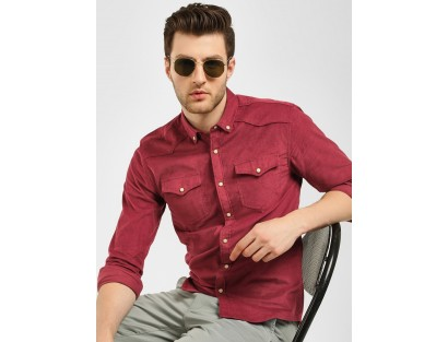 Red Shirt With Pocket-F2