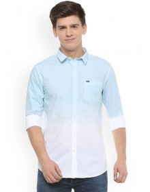 White and Blue Ombre Casual Shirt - GG(similar style)