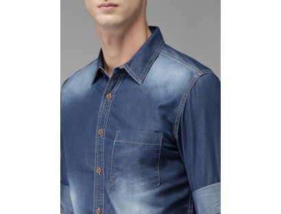 Denim Faded Casual Shirt -GG