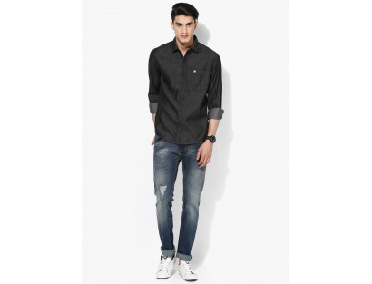 Black Solid Shirt By John Players
