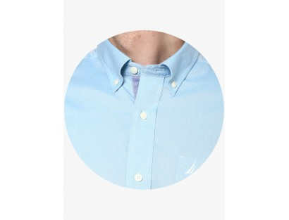 Blue Regular Solid Shirt By Nautica