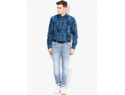 Blue Casual Shirt By Jack & Jones