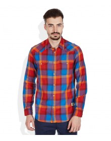Red Slim Fit Checks Shirt By Jack & Jones