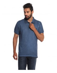 Navy Cotton Polo T-shirt