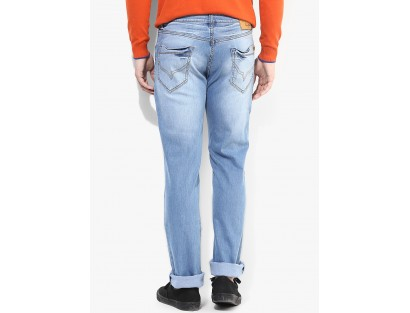 Blue Low Rise Regular Fit Jeans by Pepe Jeans