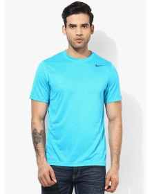 Aqua Blue Round Neck T-Shirt by Nike