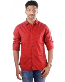 Men's Solid Casual Shirt by Indian Terrain