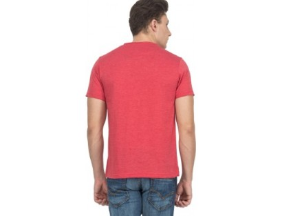 Le Bison Solid Men's Round Neck T-Shirt
