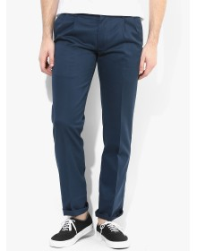 ColorPlus Navy Blue Slim Fit Chinos