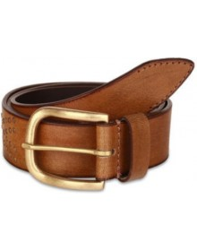 Men Casual Brown Genuine Leather Belt