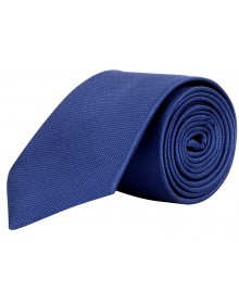 Men's Slim Blue Geometric Tie by Modo