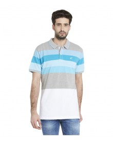 Globus Multi Blue Polo T Shirt