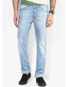 Blue Mid Rise Slim Fit Jeans By Numero Uno