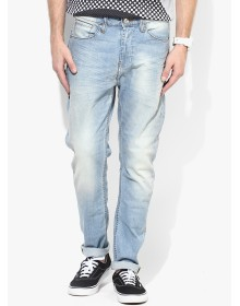 Blue Solid Slim Fit Jeans by United Colors of Benetton