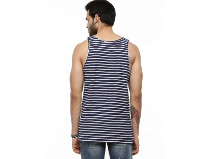 Men's Striped Vest With Pocket