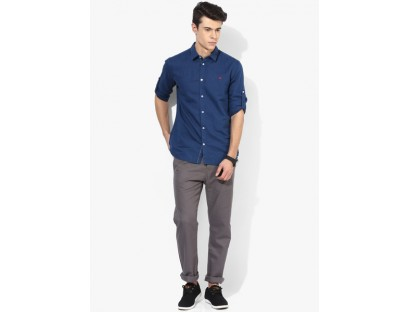 Tom Tailor Grey Solid Chinos