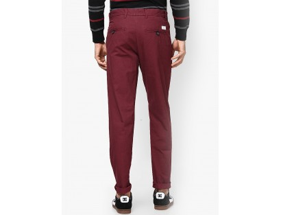 Red Regular Fit Chinos By Jack & Jones