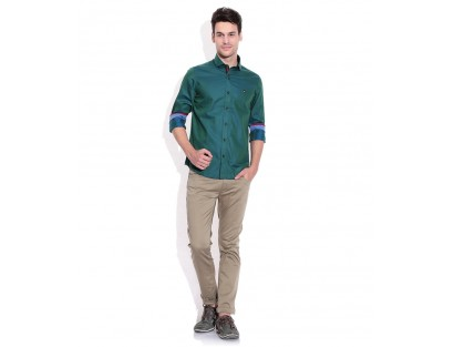 Mufti Green Slim Fit Shirt