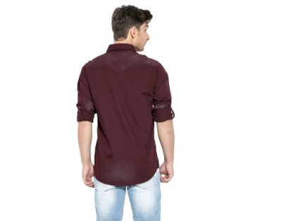 Mufti Men's Solid Casual Shirt