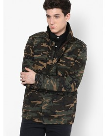 Bell Field Camo Print Casual Jacket