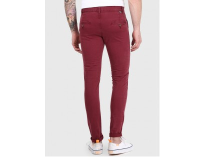 Incult Maroon Skinny Fit Chinos