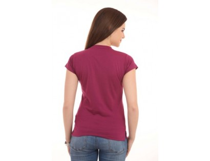 LovinoForm Solid Women's V-neck T-Shirt