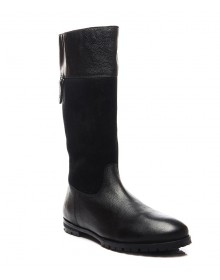Pelle Originale Black Suede Boots For Women