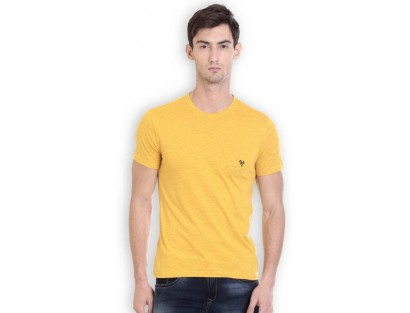 HOLS Round Neck Yellow T-Shirt