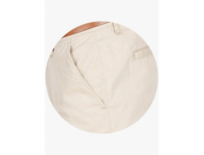 American Swan Beige Slim Fit Formal Trouser