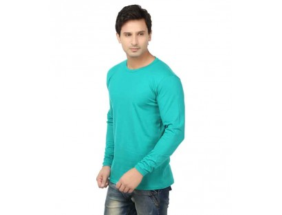 Lowcha Turquoise Cotton T-Shirt