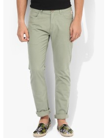 Bay Island Green Slim Fit Chinos
