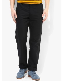 Black Regular Fit Chinos By Arrow
