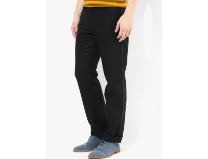 Black Regular Fit Chinos