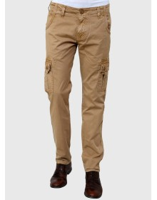 Beige Slim Fit Cargos