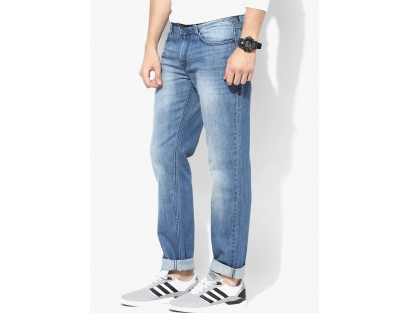 Blue Washed Regular Fit Jeans