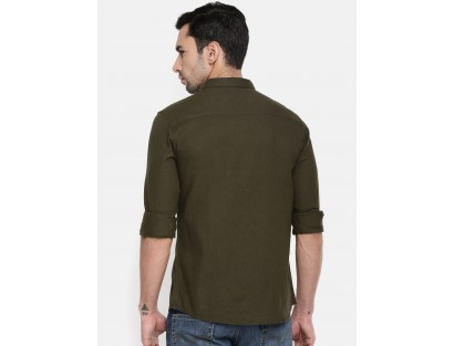 Coffee Brown Casual Shirt-Savyasachi