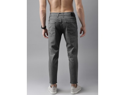 Grey Slim Fit Jeans-Savyasachi