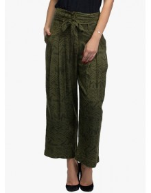 Oxolloxo Green Printed Trouser